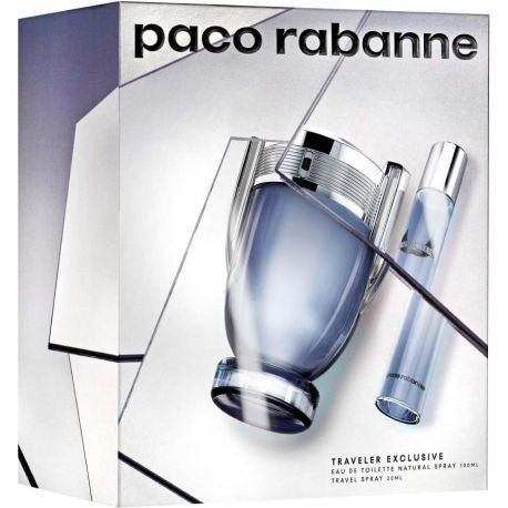 PACO RABANNE INVICTUS EDT 100 ML + MINI 20 ML SET REGALO