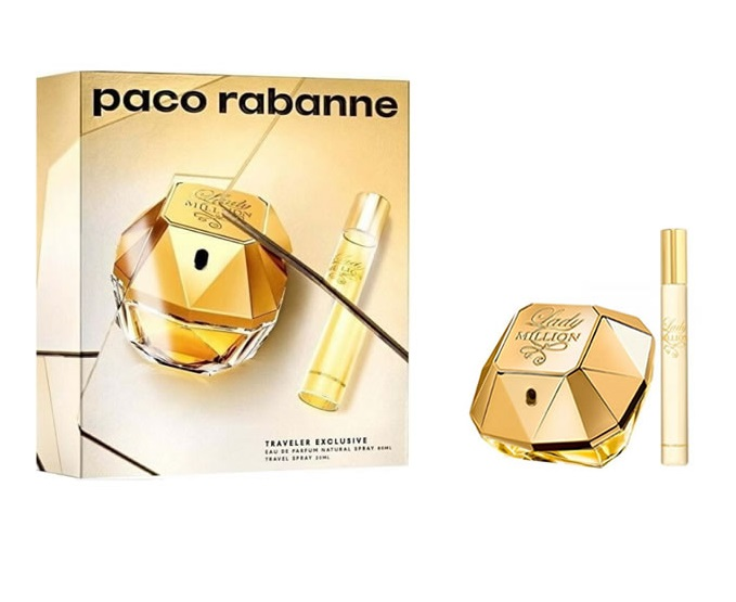 PACO RABANNE LADY MILLION EDP 80 ML + MINI 20 ML SET REGALO