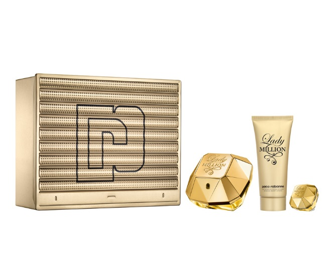 PACO RABANNE LADY MILLION EDP 80 ML + B/LOC 100 ML + MINI 5 ML SET REGALO