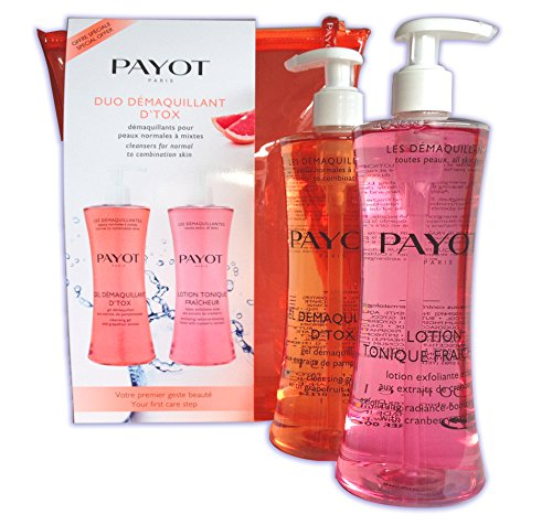 PAYOT GEL DESMAQUILLANTE 400 ML + LOCION DESMAQUILLANTE 400 ML SET REGALO