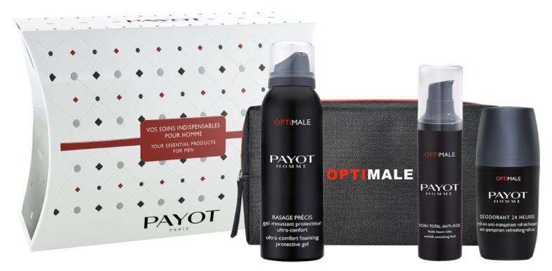 PAYOT HOMME SOIN TOTAL ANTI AGE 50 ML + PAYOT RESSAGE PRECIS 100 ML + DEO STICK 75 ML SET REGALO