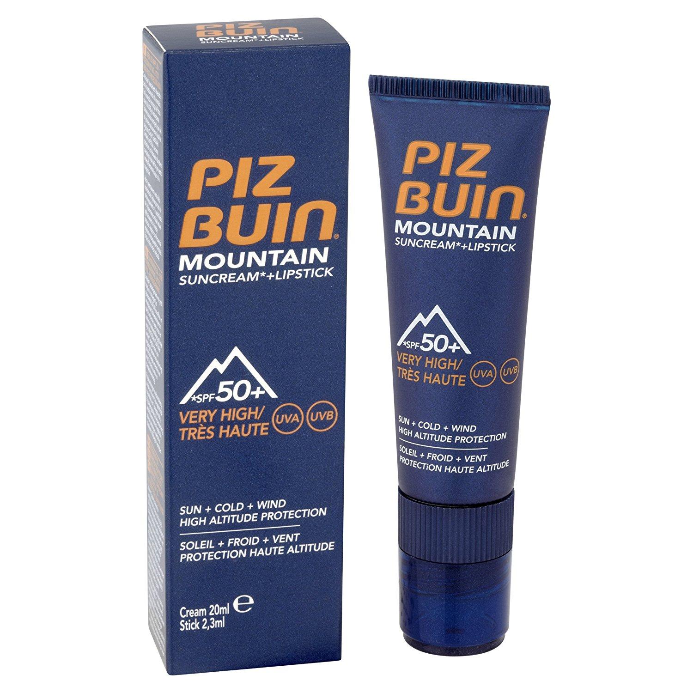 piz buin mountain suncream 20ml lipstick spf 50. Black Bedroom Furniture Sets. Home Design Ideas