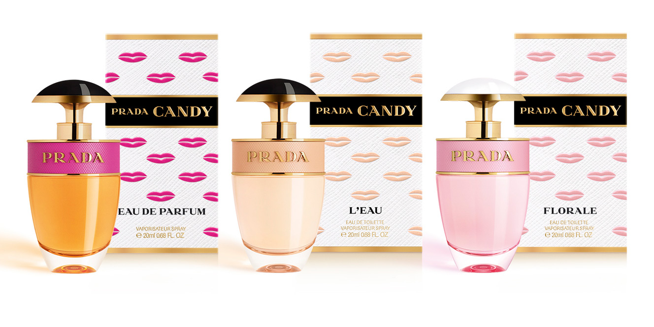 PRADA CANDY KISS SET (CANDY L´EAU EDT 20 ML + CANDY FLORALE EDT 20 ML + CANDY EDP 20 ML) SET REGALO