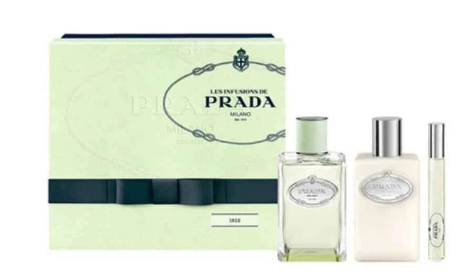 PRADA INFUSION D´IRIS EDP 100 ML VAPO  + BODY LOCION 100ML + EDP ROLL ON 10 ML SET REGALO