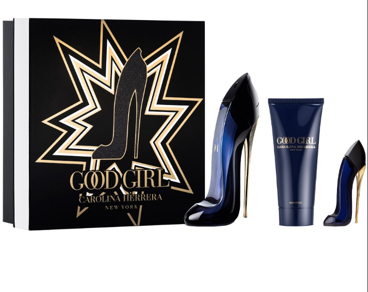 CAROLINA HERRERA CH GOOD GIRL EDP 80 ML + BODY LOTION 100 ML + MINIATURA  EDP 7 ML SET REGALO