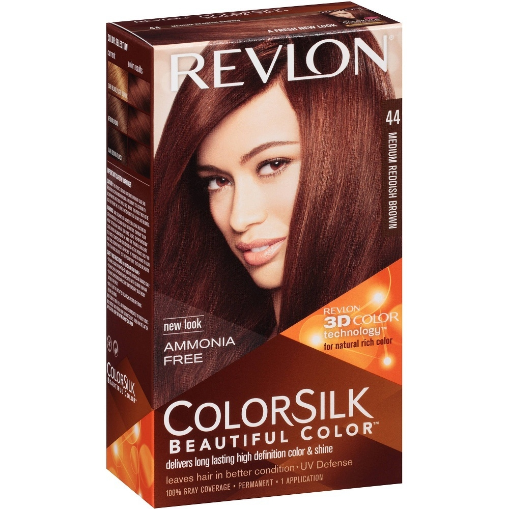 REVLON TINTE COLORSILK 44 MED RED BROWN