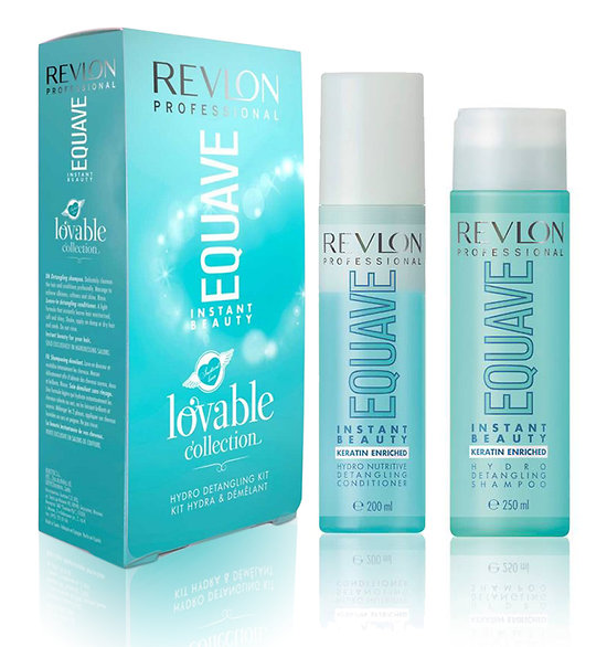 REVLON EQ. INST. BEAUTY HYDRO DET. SHAMPOO 250ML+ EQ. HYDRO NUT. COND. 200ML SET