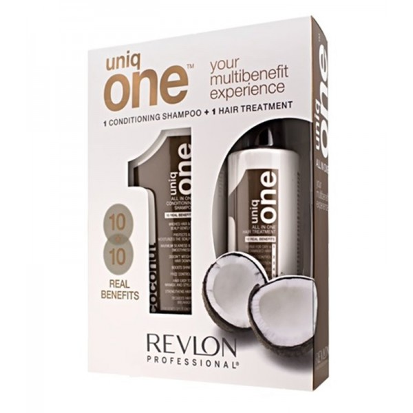 REVLON UNIQ ONE IN PACK COCO CHAMPU + SERUM SET