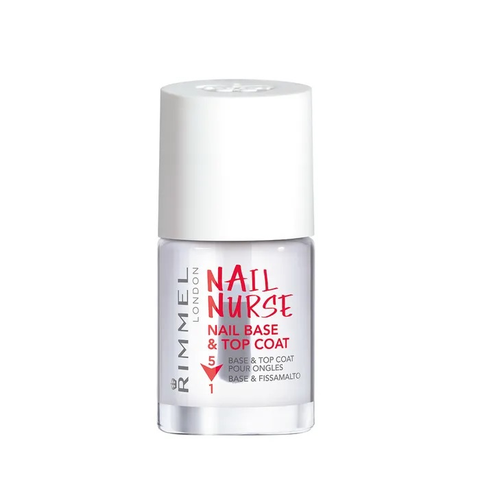 RIMMEL LONDON NAIL POLISH SALON NAIL NURSE BASE & TOP COAT 12ML