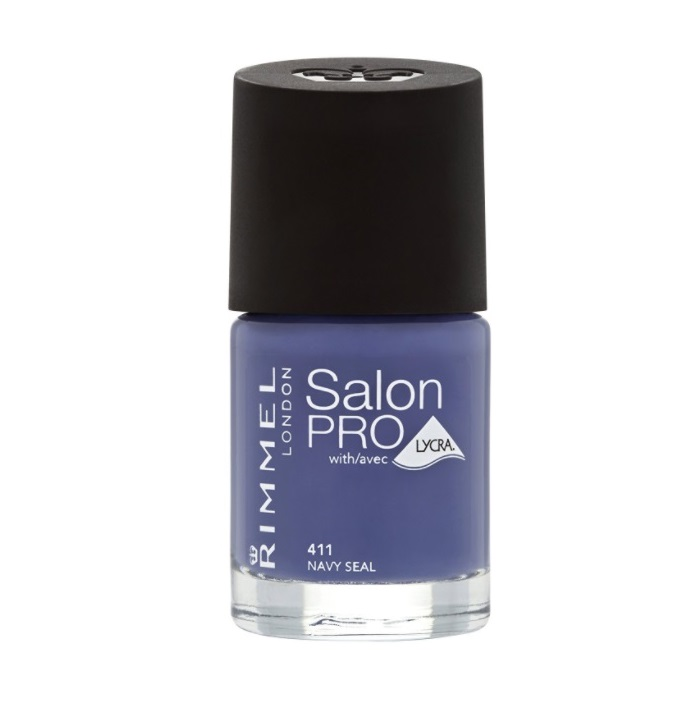 RIMMEL LONDON NAIL POLISH SALON PRO NAVY SEAL 411 12ML