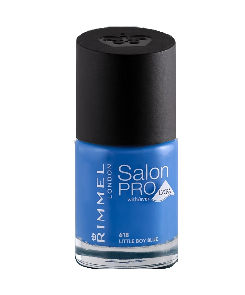 RIMMEL LONDON NAIL POLISH SALON PRO LITTLE BOY BLUE 618 12ML