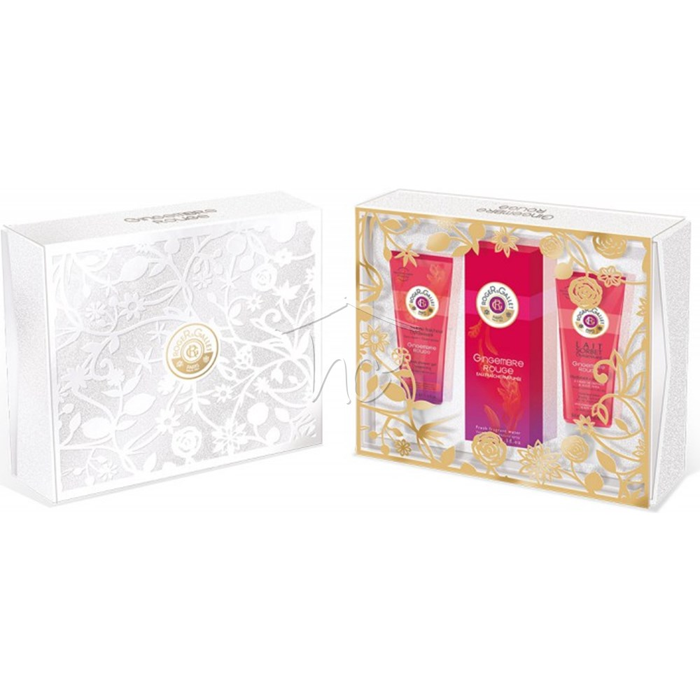 ROGER & GALLET GINGEMBRE ROUGE EDC 100 ML + B/L 50 ML + GEL 50 ML SET REGALO