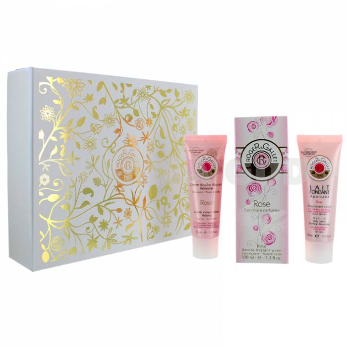 ROGER & GALLET ROSE EDC 100 ML + B/L 50 ML + GEL 50 ML SET REGALO