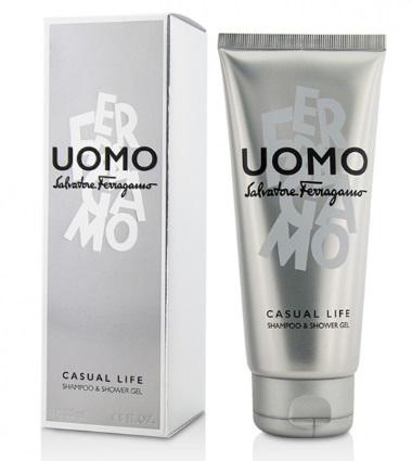 SALVATORE FERRAGAMO UOMO CASUAL LIFE EDT SHOWER GEL 200ML