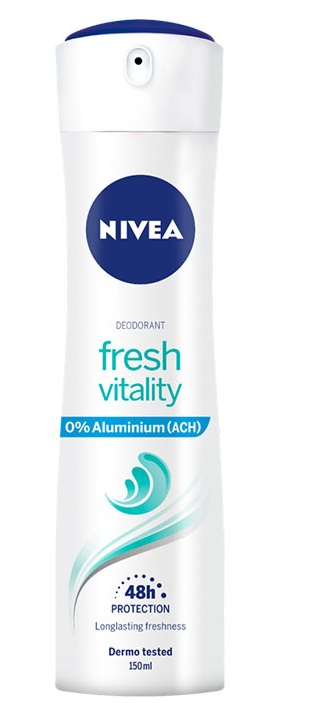 NIVEA FRESH VITALITY DESODORANTE 0% ALUMINIO SPRAY 150ML