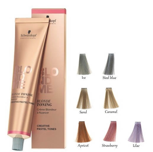 SCHWARZKOPF BLONDE ME TONING CREMA CON COLOR PARA CABELLOS RUBIOS STRAWBERRY 60ML