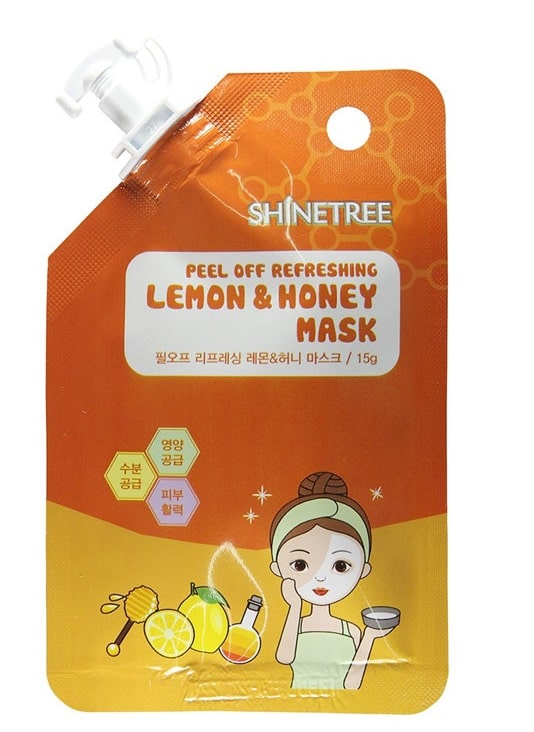 SHINETREE PEEL OFF REFRESHING LEMON & HONEY MASK 15 GR