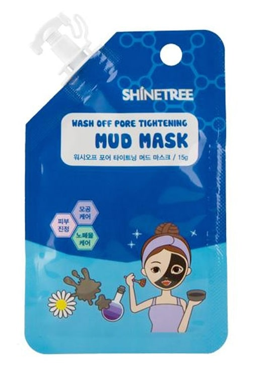 SHINETREE WASH OFF PORE TIGHTENING MUD MASK 15GR