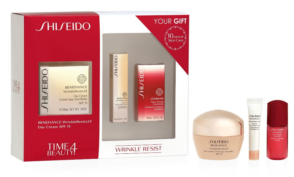 shiseido benefiance wrinkle resist 24 set regalo que se compone de benefiance wrinkleresist24. Black Bedroom Furniture Sets. Home Design Ideas