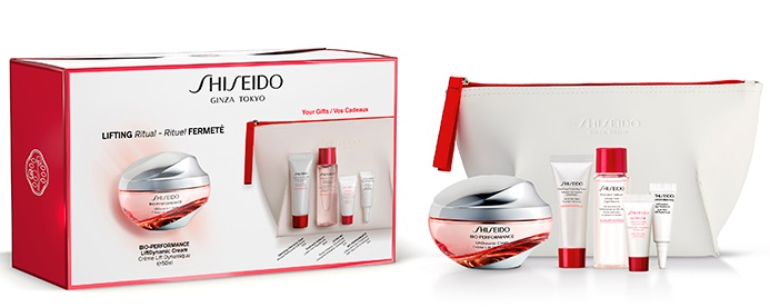 SHISEIDO BIO-PERFORMANCE LIFTDYNAMIC CREAM 50 ML + 4 MUESTRAS +NECESER SET REGALO