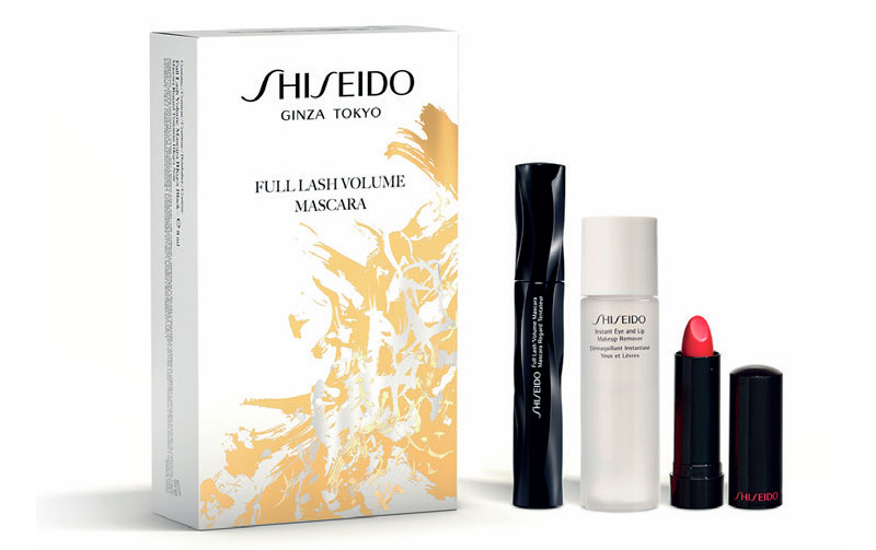 SHISEIDO FULL LASH VOLUME MASCARA BLACK BK 901 8 ML + 2 REGALOS SET