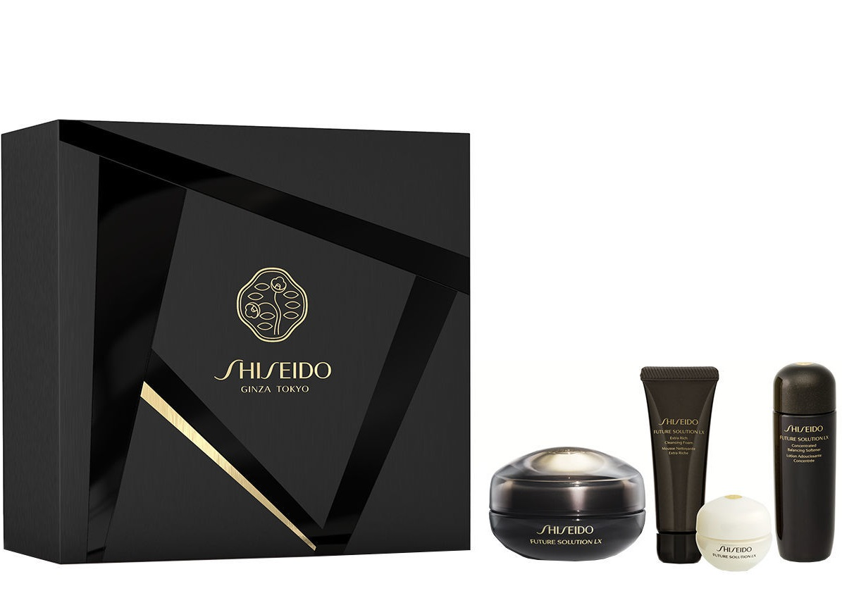 SHISEIDO FUTURE SOLUTION LX EYE + LIP CONTOUR REGENERATING CREAM 17 ML SET DE REGALO