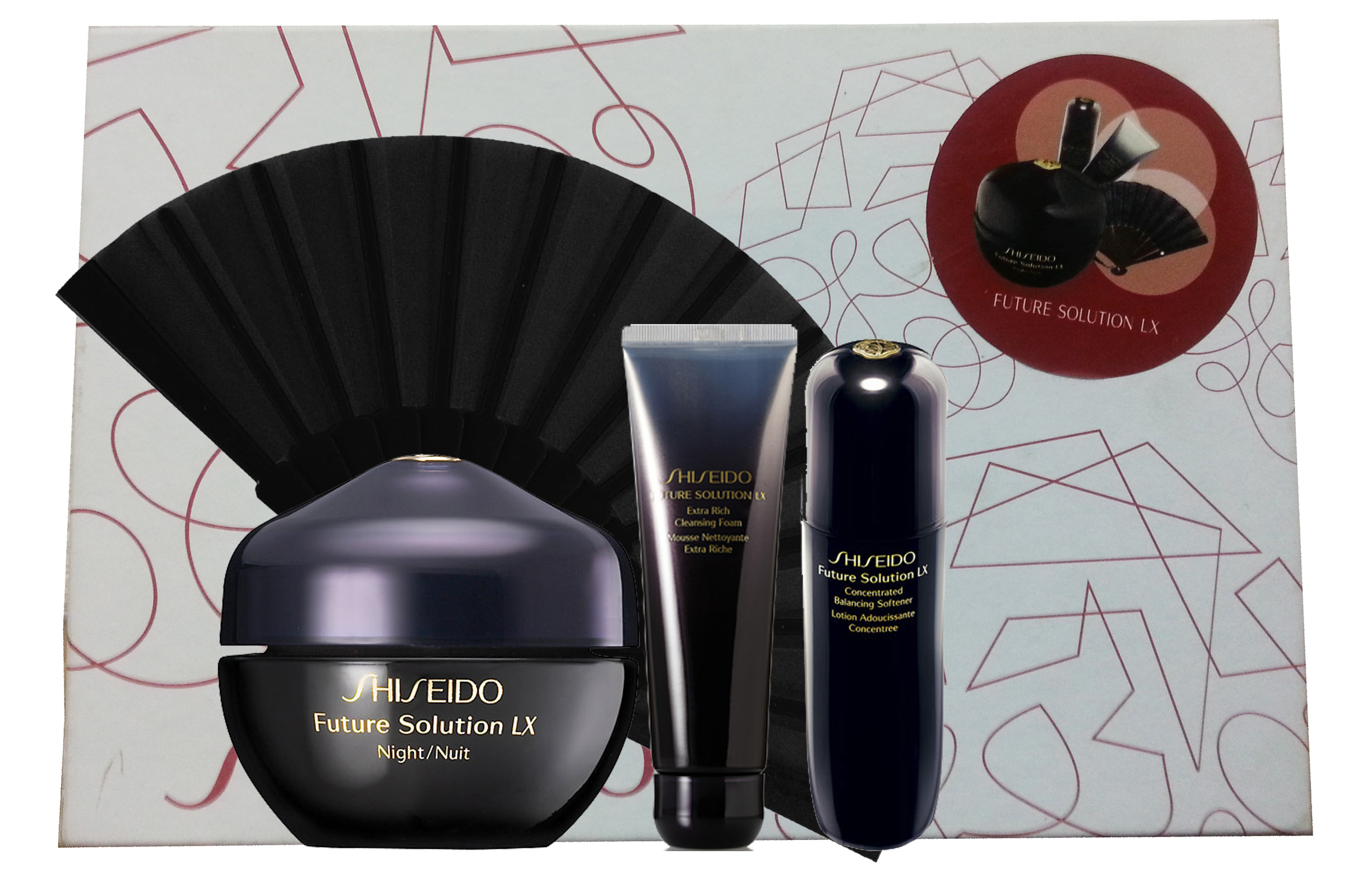 SHISEIDO FUTURE SOLUTION LX NIGHT CREAM 50 ML + LX B. SOFTENER + FOAM SET REGALO