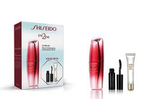 SHISEIDO ULTIMUNE EYE CONCENTRATE 15 ML + BIOPERFORMANCE EYE CREAM 5 ML + MINI MASCARA SET REGALO