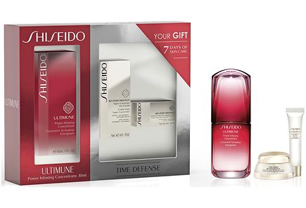 SHISEIDO ULTIMUNE POWER INFUSING CONCENTRATE 30 ML + 2 PRODUCTOS MINI SET REGALO