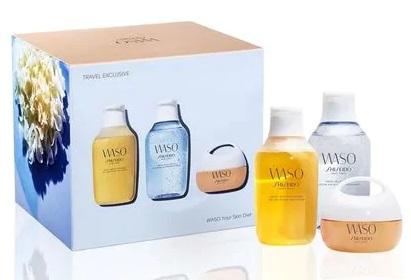 SHISEIDO WASO YOUR WASO QUICK GENTLE 150ML+WASO FRESFH JELLY 150ML+WASO CLEAR MEGA HYDRATING 50ML