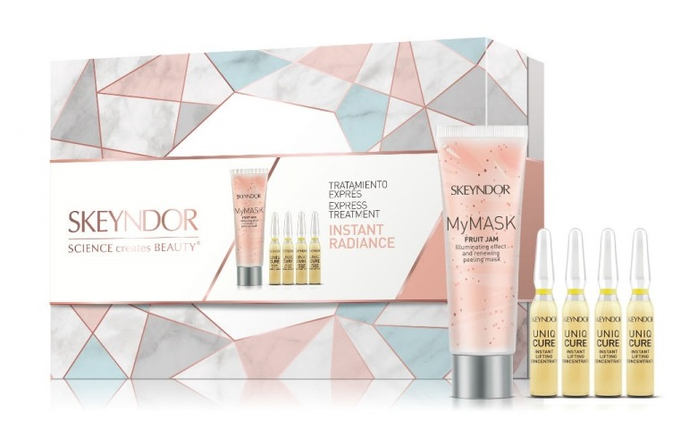 SKEYNDOR TRATAMIENTO EXPRESS INSTANT RADIANCE MY MASK FRUIT JAM 50ML+4 AMPOLLAS INSTANT LIFTING