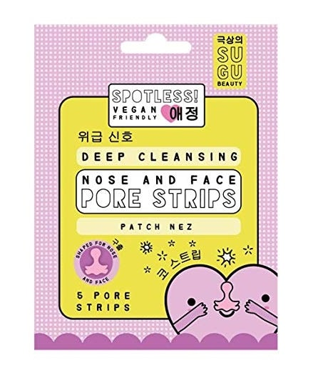 SUGU BEAUTY SPOTLESS DEEP CLEANSING PORE STRIP ( 5 UNIDADES)