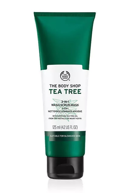 THE BODY SHOP MASCARILLA 3 EN 1 PURIFICANTE DE ARBOL DE TE 125 ML