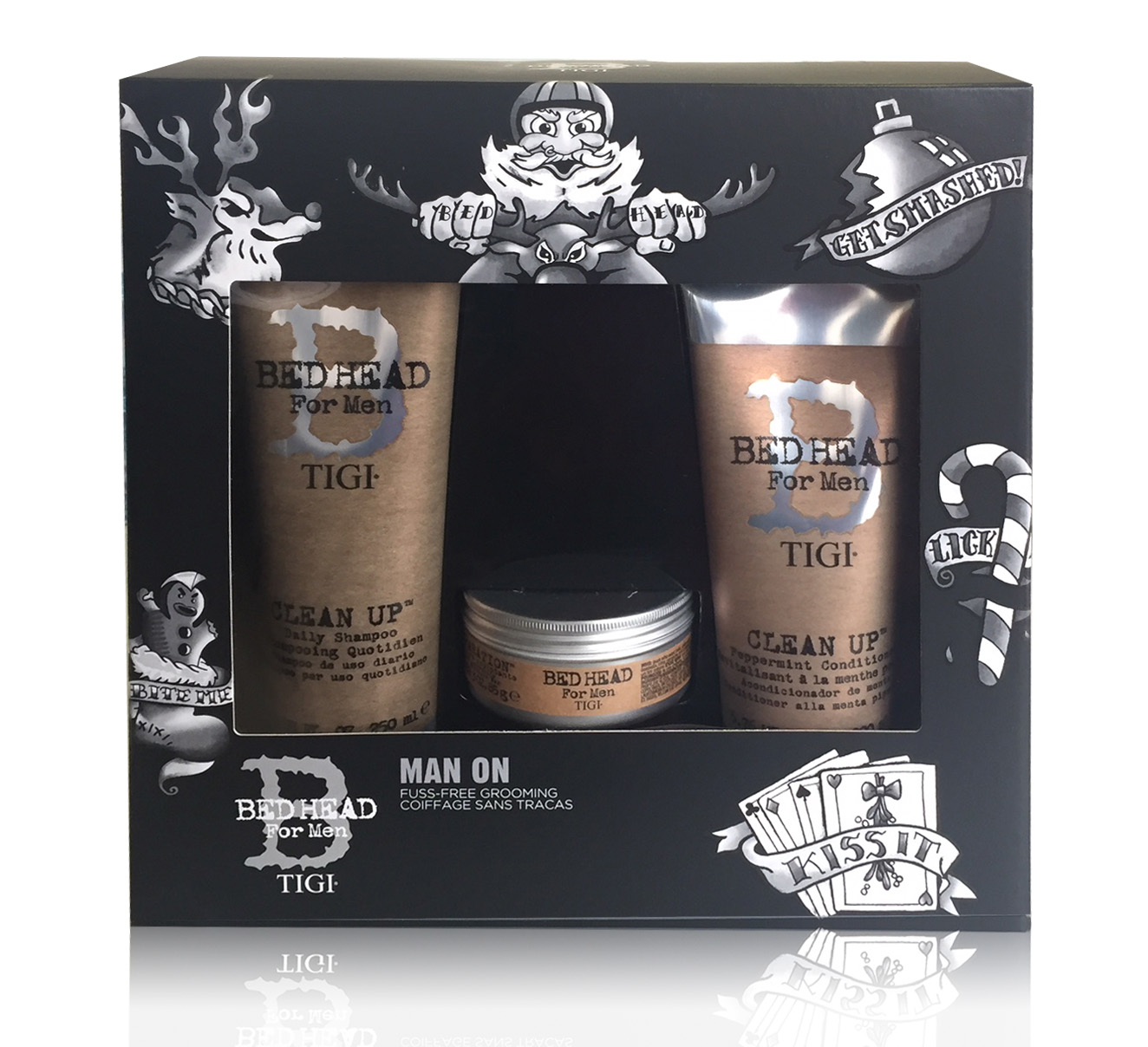 TIGI BED HEAD FOR MEN CLEAN UP SHAMPOO 250 ML + CONDITIONER 250 ML + CERA 85 GR SET