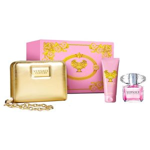 VERSACE BRIGHT CRYSTAL EDT 90 ML + B/LOC 100 ML + NECESER SET REGALO NAVIDAD 2015
