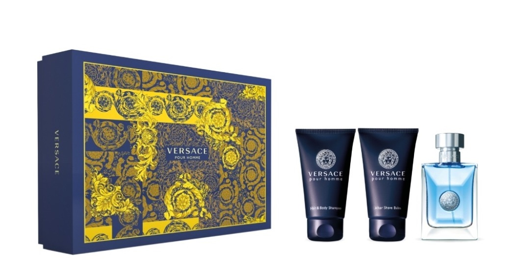 VERSACE POUR HOMME EDT 50 ML+ SHOWER GEL 50 ML + A/S BALM 50 ML SET