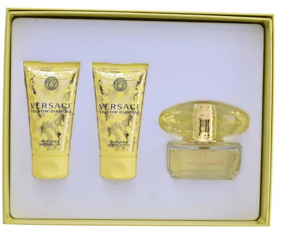 VERSACE YELLOW DIAMOND EDT 50 ML + B/L 50 ML + S/G 50 ML SET REGALO