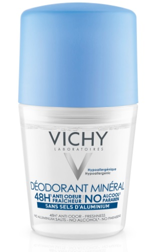 VICHY DESODORANTE MINERAL 48 H SIN SALES DE ALUMINIO ROLL ON 50 ML