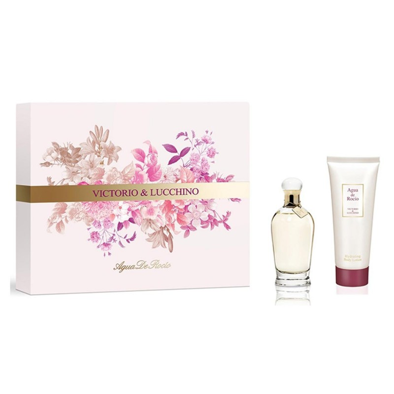 VICTORIO & LUCCHINO AGUA DE ROCIO EDT 50  ML VP. + BODY LOCION 75 ML SET REGALO