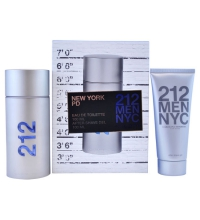 CAROLINA HERRERA 212 MEN EDT 100 ML VP. + A/S GEL 100 ML TRAVEL SET