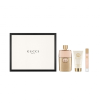 GUCCI GUILTY POUR FEMME EDP 90 ML + B/L  50 ML + MINI 7.4 ML SET REGALO