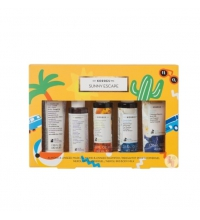 KORRES SUNNY ESCAPE SET 5x40 ML MINI TALLAS (2 GEL,CHAMPU,MASCARILLA,LECHE CORPORAL)