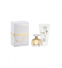 LALIQUE LIVING LALIQUE EDP 50 ML + B/LOC 150 ML SET REGALO