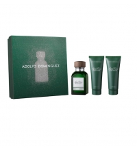 ADOLFO DOMINGUEZ AGUA FRESCA VETIVER EDT 120 ML + A/S 75 ML + GEL 75 ML SET REGALO