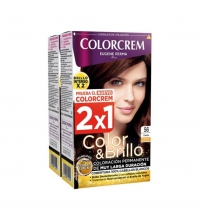 COLORCREM COLOR & BRILLO TINTE CAPILAR 56 CAOBA x 2 UDS