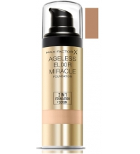 MAX FACTOR AGELESS ELIXIR 2 EN 1 MAQUILLAJE COLOR 80 BRONZE 30 ML