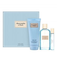 ABERCROMBIE & FITCH FIRST INSTINCT BLUE WOMAN EDP 100 ML +15 ML + B/LOC 200 ML SET REGALO
