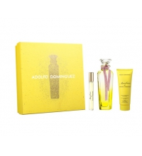ADOLFO DOMINGUEZ AGUA FRESCA MIMOSA CORIANDRO EDT 120 ML + B/L 75 ML + MINI 10 ML SET REGALO