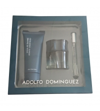 ADOLFO DOMINGUEZ AGUA DE BAMBU MAN EDT 60 ML + A/S 100 ML + MINI 10 ML SET REGALO