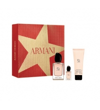 GIORGIO ARMANI SI EDP 50 ML + B/L 75 ML + MINI 7 ML SET REGALO
